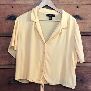 Forever 21 Yellow Boxy Top